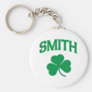 Smith Irish Shamrock Basic Round Button Key Ring