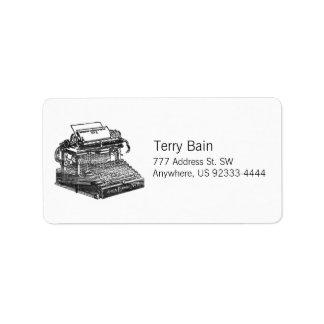 Smith Premier No. 2 Typewriter Label