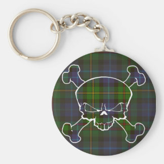 Smith Tartan Skull No Banner Basic Round Button Key Ring