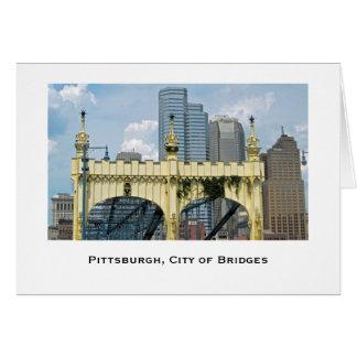 Smithfield St. Bridge, Pittsburgh Greeting Card