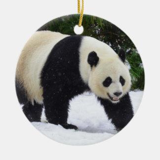 Smithsonian | Giant Pandas In The Snow Ceramic Ornament