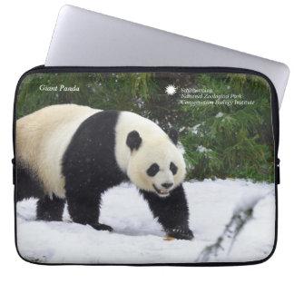 Smithsonian   Giant Pandas In The Snow Laptop Sleeve