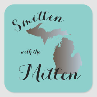 Smitten with the Mitten Square Sticker