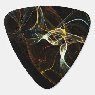 Smoke Abstract Art Guitar Pick