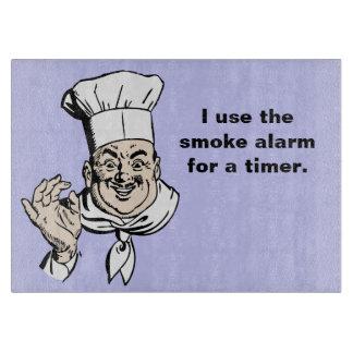 Smoke alarm is the timer cutting board