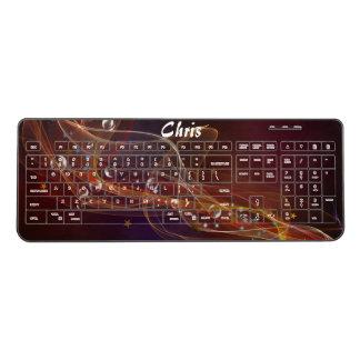 Smoke and Bubbles Wireless Keyboard