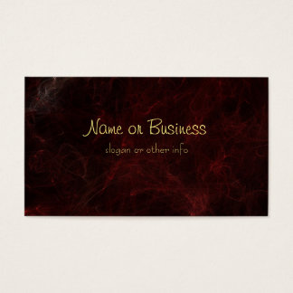 Smoke and Fire Abstract Design Business Card