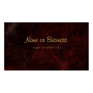 Smoke and Fire Abstract Design Pack Of Standard Business Cards