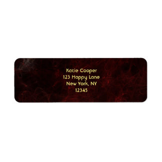 Smoke and Fire Abstract Design Return Address Label