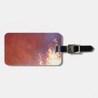 smoke and fire luggage tag