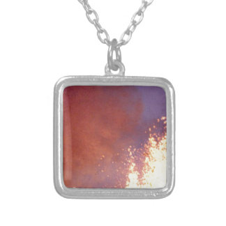 smoke and fire silver plated necklace
