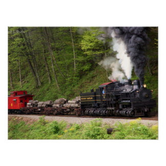 Smoke and Steam Train Print