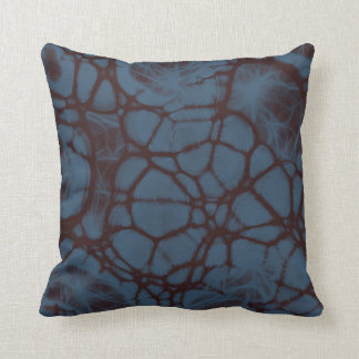 Smoke blue maroon Throw pillow