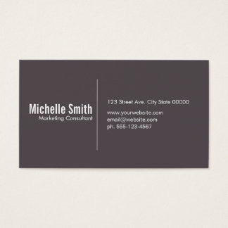 Smoke Brown background with Divider Line Business Card