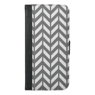 Smoke Chevron 4 iPhone 6/6s Plus Wallet Case