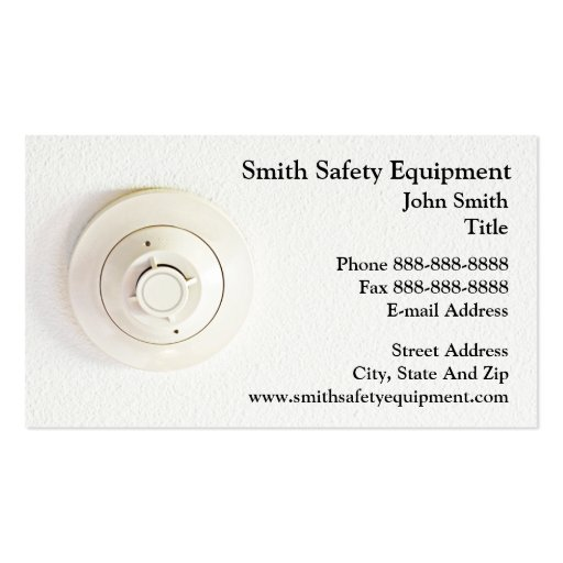 Smoke Detector Business Card