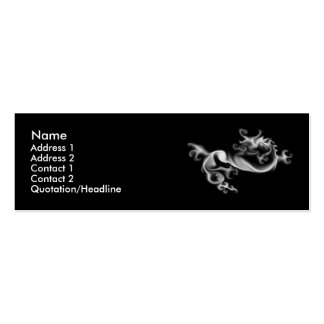 Smoke Dragon Double-Sided Mini Business Cards (Pack Of 20)