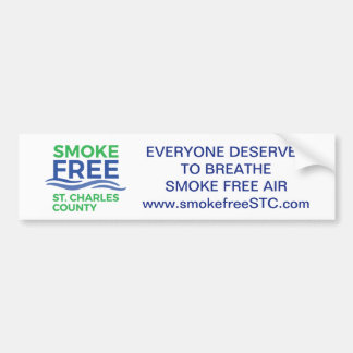 Smoke Free STC bumper sticker