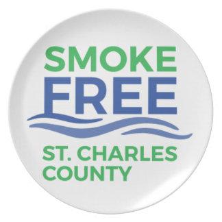 Smoke Free STC Products Plate
