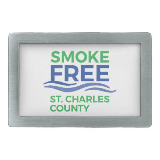 Smoke Free STC Products Rectangular Belt Buckle