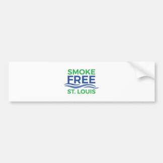 Smoke Free STL Paper Products Bumper Sticker