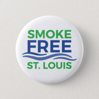Smoke Free STL Products 6 Cm Round Badge