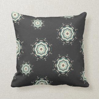 Smoke Grey Deco abstract yellow  Throw pillow