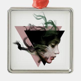 Smoke Illusion Metal Ornament