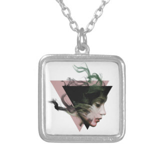 Smoke Illusion Silver Plated Necklace