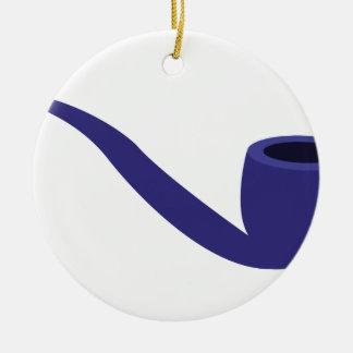 Smoke Pipe Ceramic Ornament