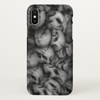 smoke skull heads tattoo art iPhone x case