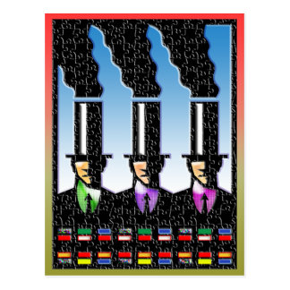 smoke stack business men Postcard