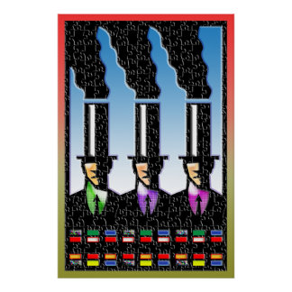 smoke stack business men Print