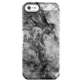 Smoke Streaked Black White marble stone finish Clear iPhone SE/5/5s Case