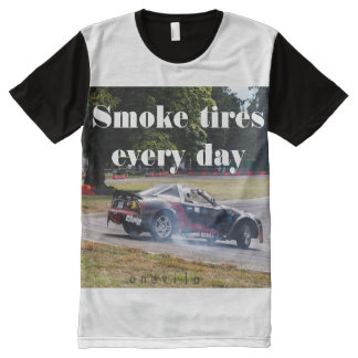 Smoke Tires Every Day Zombiata All-Over Print T-Shirt