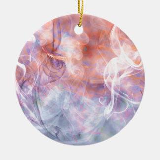 Smoke Vapor Phosphene - Abstract Art Ceramic Ornament