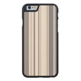 Smoked Pearl Stripes Varied Geometric Pattern Carved Maple iPhone 6 Case