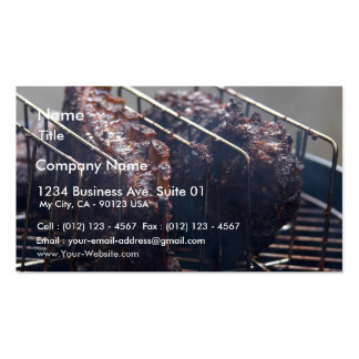 Smoked Ribs On Grill Business Cards