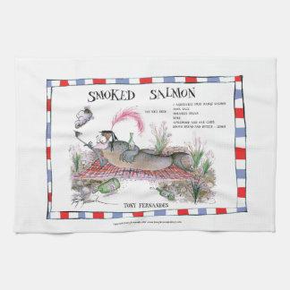 smoked salmon recipe, tony fernandes tea towel