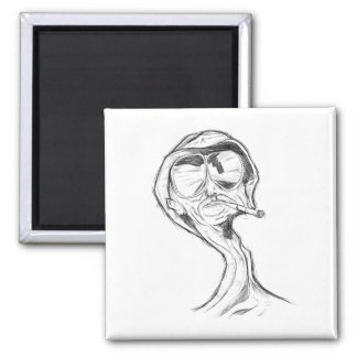 Smoker Square Magnet