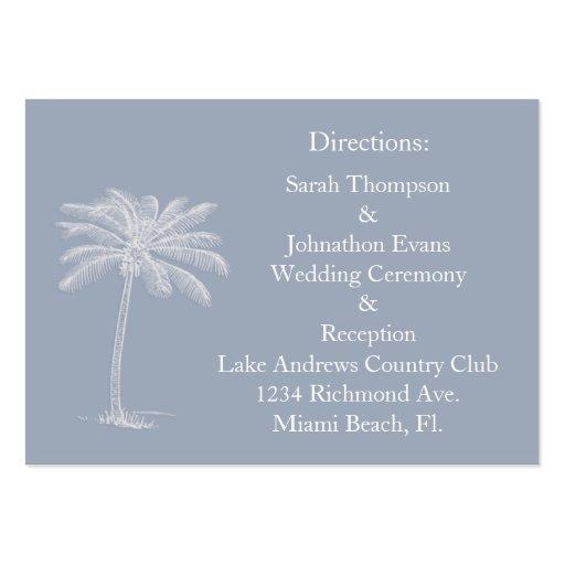 Smokey Beach Getaway Direction Cards Business Card Templates