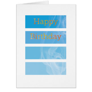 Smokey Birthday - Fire department called Card