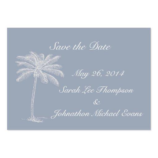 Smokey Blue Beach Getaway Save The Date Cards Business Card Template