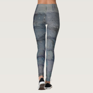 Smokey blue brickwork leggings
