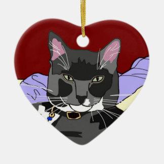 Smokey Cat Christmas Ornament