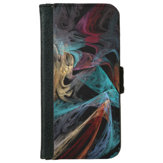 Smokey Fractal iPhone 6 Wallet Case