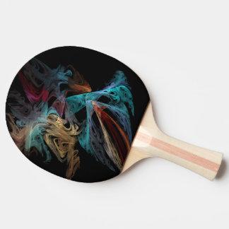 Smokey Fractal Ping Pong Paddle