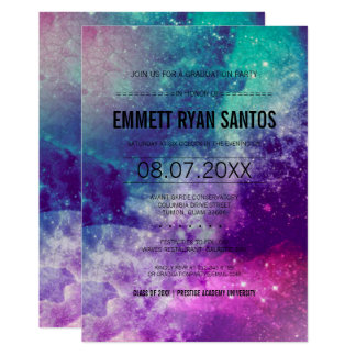 Smokey Galaxy Graduation Party Invite