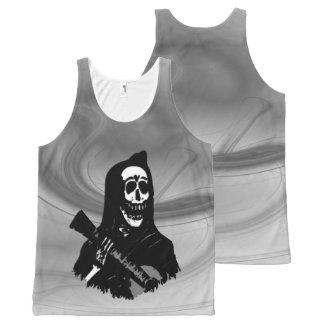 Smokey Guitar Skeleton Serenade All-Over Print Singlet