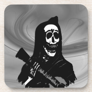 Smokey Guitar Skeleton Serenade Coaster